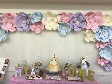 20 Piece Large Paper Flowers Backdrop, Birthday Wall Decor, Party Decoration