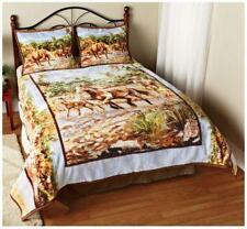 New Horse Pattern Hautman Comforter / Coverlet & Shams Queen / King