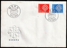 EUROPA CEPT FDC 1959 SUISSE 1