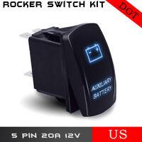 RZR CAN AM UTV SXS DUAL Back Lit BLUE INTERIOR LIGHT Rocker Switch ON OFF #ACILB