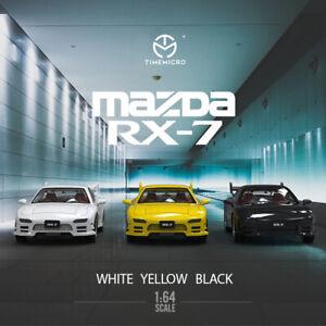 TimeMicro 1:64 Dream Series Mazda RX-7 Yellow / White /Black Model Car
