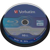 10 Stück 1x 10er Spindel Verbatim BluRay Rohlinge BD-R DL 50GB 6X Dual Layer
