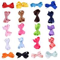 20x Baby Girls Cute Small Bow Hair Clips Hairpins Barrettes Headwear Accessories