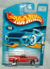 Hot Wheels 2001 # 126 '68 Mustang red,black int,metal Thailand base,ex.card