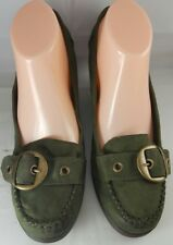 American Eagle Shoe Women's Green Suede Penny Loafer Shoes Women Size 10M