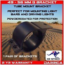 "49 - 56mm (2"") Pair Aluminium Mounting Brackets Light Bar Driving Lights aerial"