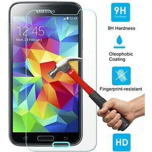 SAMSUNG GALAXY S5 - BALLISTIC TEMPERED GLASS SCREEN PROTECTOR GUARD 9H HARDNESS