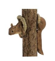 2 pc peek a boo squirrel Head & Tail Tree Hanging Statue outdoor garden yard art