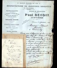 """BESANCON (25) USINE à LA VIOTTE d' HORLOGERIE / MONTRES """"Paul BENOIT"""" en 1914"""