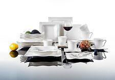 Malacasa MARIO 36X Porcelain Dinner Set w/Cups Saucers Dessert Soup Flat Plates