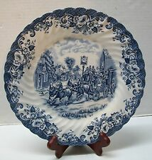 Blue and White Plate to H.M. Queen Elizabeth Johnson Brothers Ltd Vintage