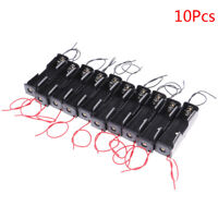 10x Plastic battery holder storage box case for 18650 rechargeable battery wired