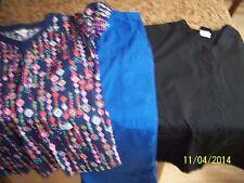 Guc Women's Size Medium And Small Scrub Tops, Size Small Scrub Bottoms -3 In Lot