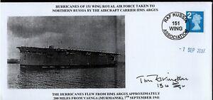 GB 2007 Commemorative Cover RAF Russia 151 Wing Association Hurricanes HMS Argus