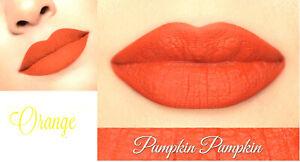 PUMPKIN Bright Coral Orange Matte Liquid Lipstick Waterproof Long Lasting