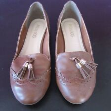 Miss KG Brown Loafers Flats Shoes Pumps Size uk 4