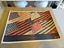 """New listing 2010 Shepard Fairey Obey Giant """" May Day MayDay Flag """" Art Print Poster Ap 18x24"""