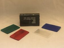 Wide Angle Diffuser Adaptor 3 Colored Filters for Camera Flash Red/Green/Blue