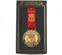 LIVERPOOL UEFA CHAMPIONS LEAGUE 'CHAMPIONS OF EUROPE' ISTANBUL 2005 BOXED MEDAL