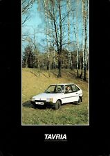 ZAZ 1102 Tavria car (made in USSR, now Ukraine) _1987 Prospekt / Brochure