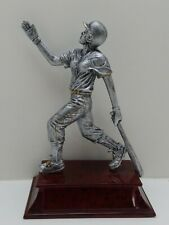 """Lot of 4 female Softball statue trophy resin 6.5"""" (00024)"""