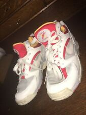 Vintage 90s Nike Air Cross Training Mens 6 High Top Shoes White W Multi Color