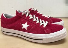 Converse All Star Men's Pink Suede Lace Up Trainers Shoes UK 9 #62E