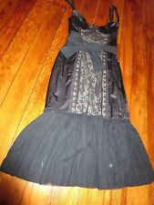 Moschino Black with Lace Lingerie Style Dress Size 6
