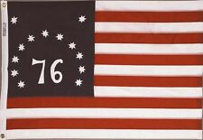 BENNINGTON 76 FLAG 2x3 ft COTTON Sewn Embroidered Stars Sewn Stripes Made in USA