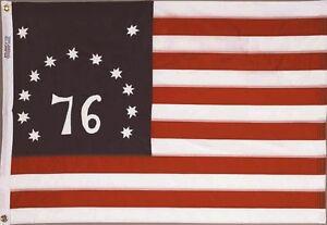2x3 ft BENNINGTON 76 FLAG COTTON Sewn Embroidered Stars 76 Sewn Stripes USA Made