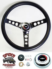 "1969-1994 Camaro steering wheel Red White Blue Bowtie 13 1/2"" Classic chrome"