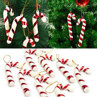 12PCS Christmas Candy Cane Xmas Tree Hanging Ornaments Party Decoration Decor