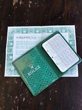 Rolex Booklet + Card Holder + 1988 calendar & warranty EXC+++