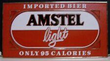 1980's Amstel Light Bier Plastic Easelback Sign