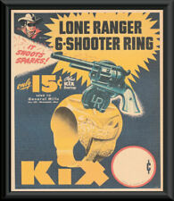 1940s Lone Ranger 6 Shooter Ring Reprint On 80 Year Old Paper *229