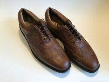 Excellent Condition Mens Footjoy Icon Golf Shoes Wing Tip Brown 12M #52252