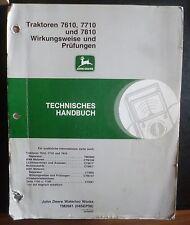 John Deere Werkstatthandbuch 7610 + 7710 + 7810 Wirkungsweise und Prüfungen