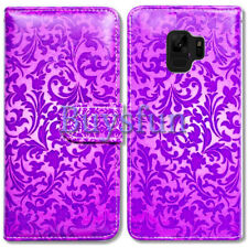 Bcov Purple Leaf Style Wallet Leather Cover Case For Samsung Galaxy S9