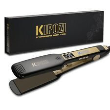 Plancha de Pelo Profesional KIPOZI Placas Anchas Pantalla LCD Voltaje Dual NEW