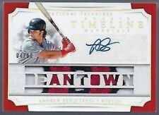 2017 National Treasures Andrew Benintendi Auto Patch #d /10 RC Timeline Red Sox