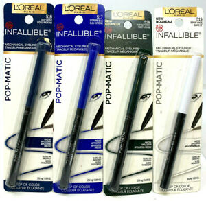 (3) Loreal Infallible Pop-Matic Mechanical Eyeliners Sealed YOU CHOOSE COLOR
