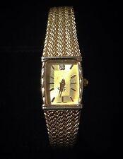 Diane Von Furstenberg Gold Color Braclet Watch With Diamond Excellent Condition