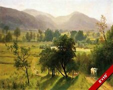 CONWAY VALLEY NEW HAMPSHIRE US LANDSCAPE OIL PAINTING ART PRINT ON REAL CANVAS