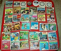 37 Lot Collection of View-Master Reel Sets Children Kids Many Disney Work Well