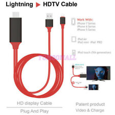 8 pin Plug & Play 2M 1080P Lightning to HDMI HDTV AV Cable Adapter for Apple iOS