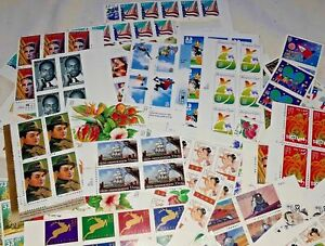 Unused 85 of Multiples & Strips & Singles of 33¢ US USA Postage Stamps FV $28.05