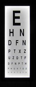 Eye Test Chart Wall light box mounted medical opticians Display Games Room Decor