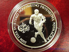 2006 Croatia Large  silver proof 150 Kuna World Cup Soccer Player Germany