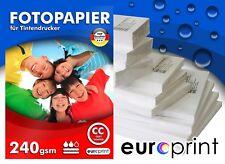 Fotopapier 240g 10x15 100 Blatt  Hochglanz Cast Coated Wasserfest TOP