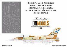 Canopy & Wheels Paint Masks for Israeli AF F-16I Sufa 1/48 for Kinetic K48006